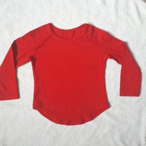 Red Woolworths Long Sleeve Tee